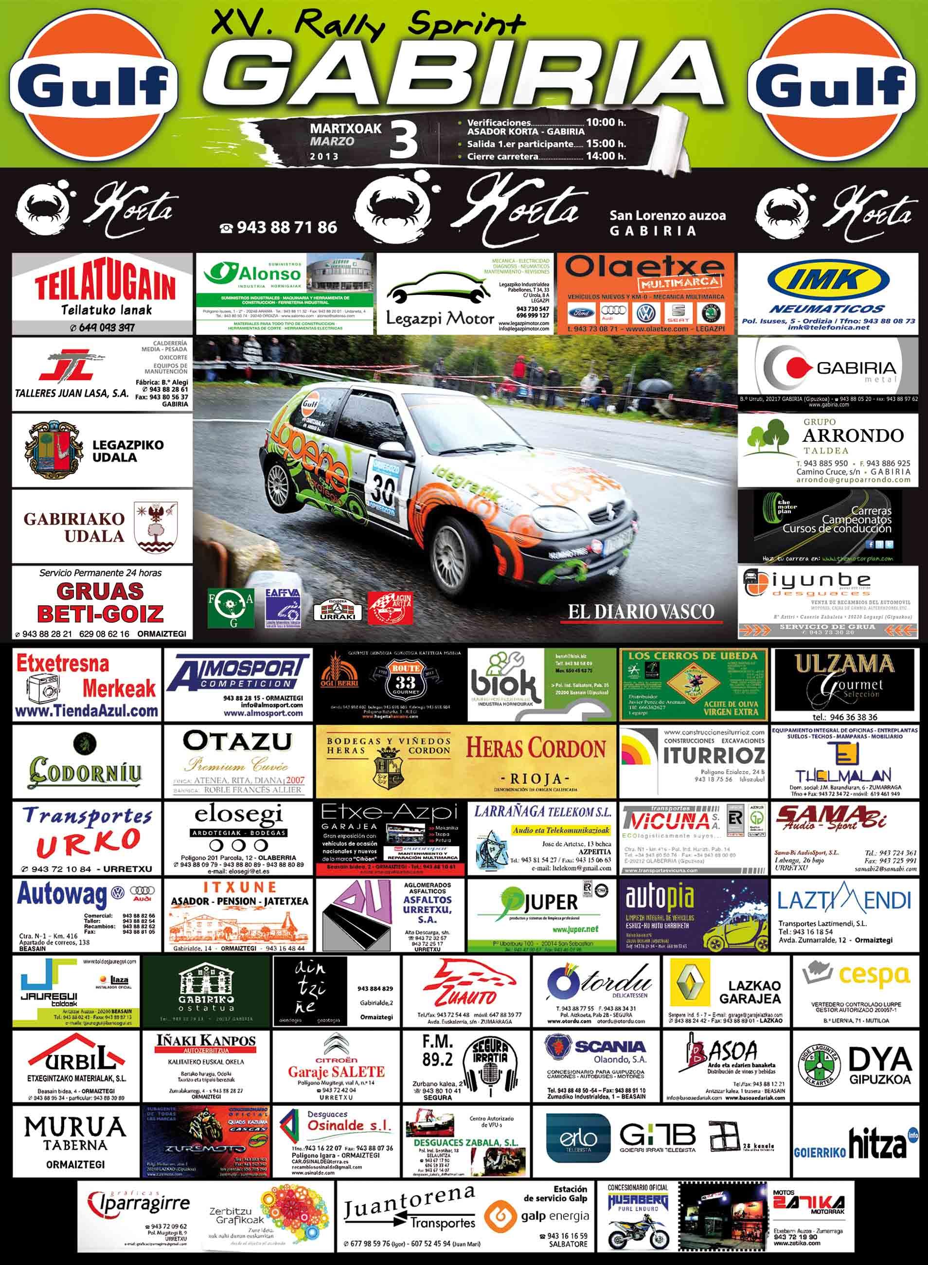 [PAIS VASCO] XV Rallysprint de Gabiria 2013 [3 de Marzo] Gabiri13